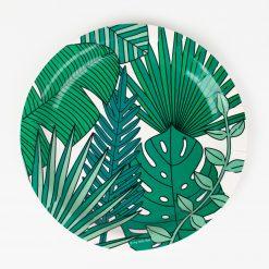 tropiikin lehdet pahvilautaset